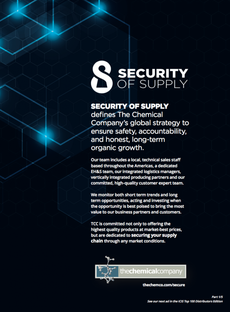 Security of Supply ad - The Chemical Company   Chemical Distributor