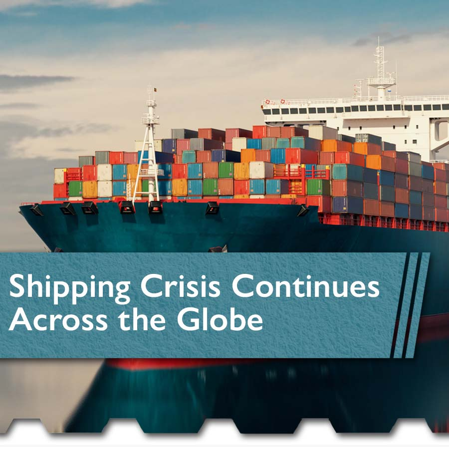 Shipping Crisis Continues Across the Globe squr - The Chemical Company